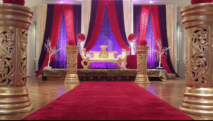 Wedding backdrop rb planners for Background decoration for indian wedding