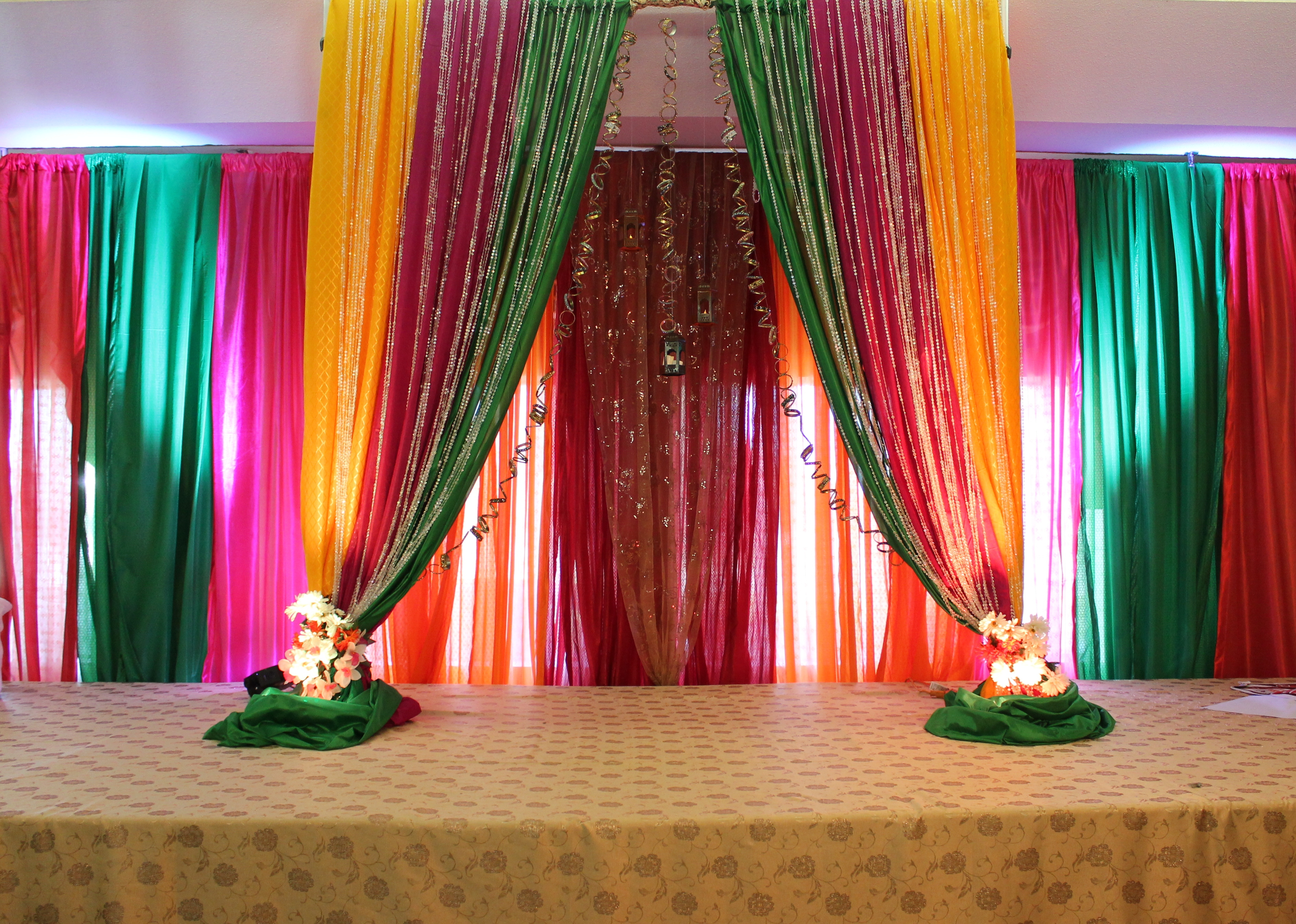 Colorful backdrop rb planners for Background decoration for indian wedding