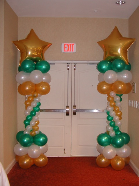 7 Star Balloon Decoration Of Star Balloon Columns Rb Planners