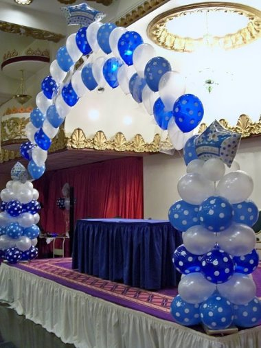 Blue And White Balloon Arch Rb Planners